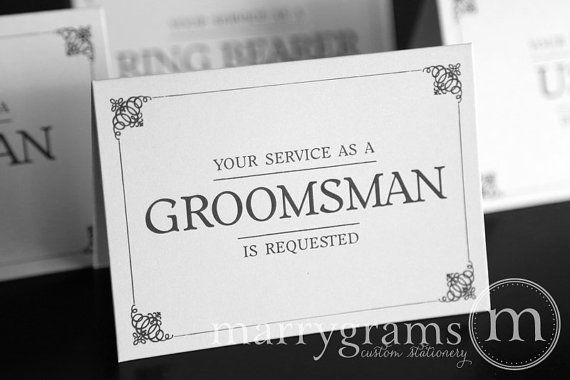 Groomsman Service is Requested Card Best Man Usher by marrygrams, $12.50