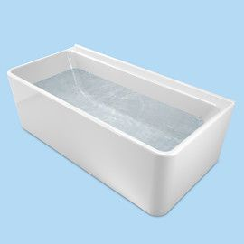Cube Back To Wall Freestanding Bath 1750     Caroma