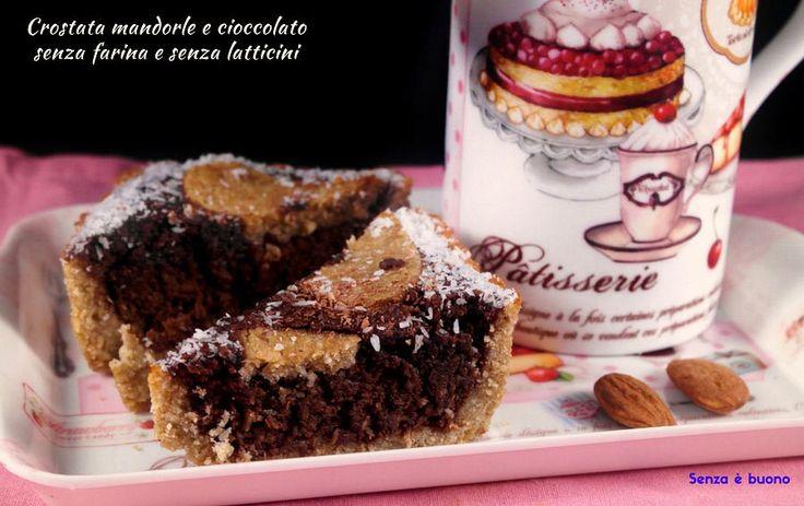 Crostata mandorle e cioccolato senza farina e senza latticini  http://www.senzaebuono.it/crostata-mandorle-e-cioccolato-senza-farina-senza-latticini/