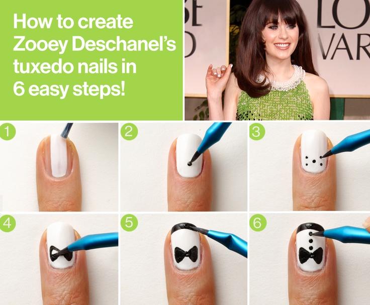 Tuxedo nail art tutorial tuxedonails tutorial