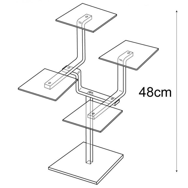 Shelf stand 4 shelf (window displays: shelving)