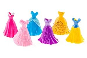 Disney Princess Little Kingdom MagiClip Fashion Set – 2 Sets of the 3 Dress Set for all 6 Princesses