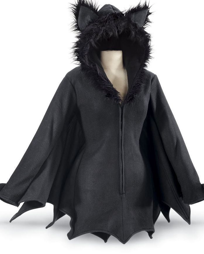 bat jacket with furry eared hood....how cute is this <3 ?