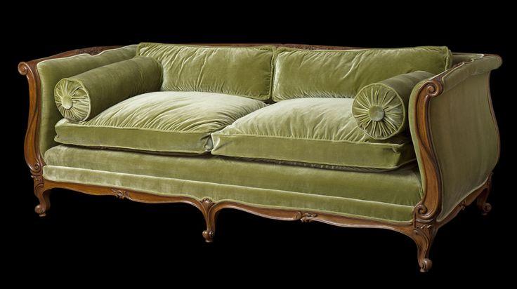 Louis xv banquette lit bl1 in berkeley finish f16u - Respaldo para sofa ...
