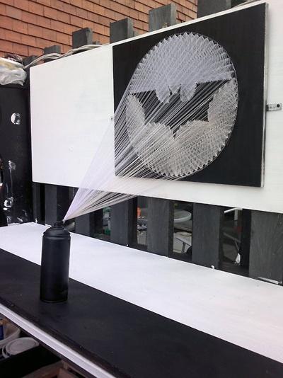 Bat signal: Batman String, Craft, Man Cave, Bat Signal, String Art, Diy, Stringart