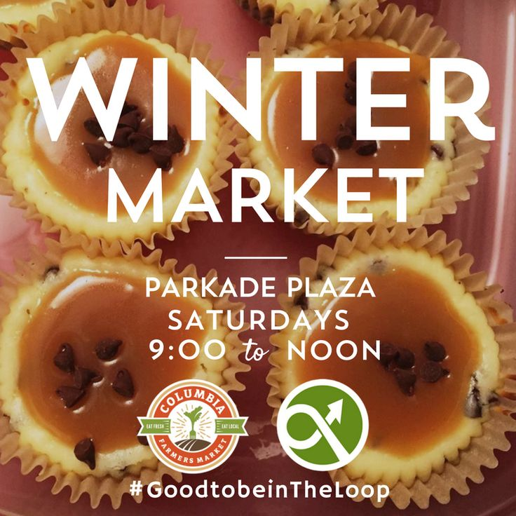 The Columbia Farmers Market moves indoors to Parkade for the winter. Local farmers, local food.