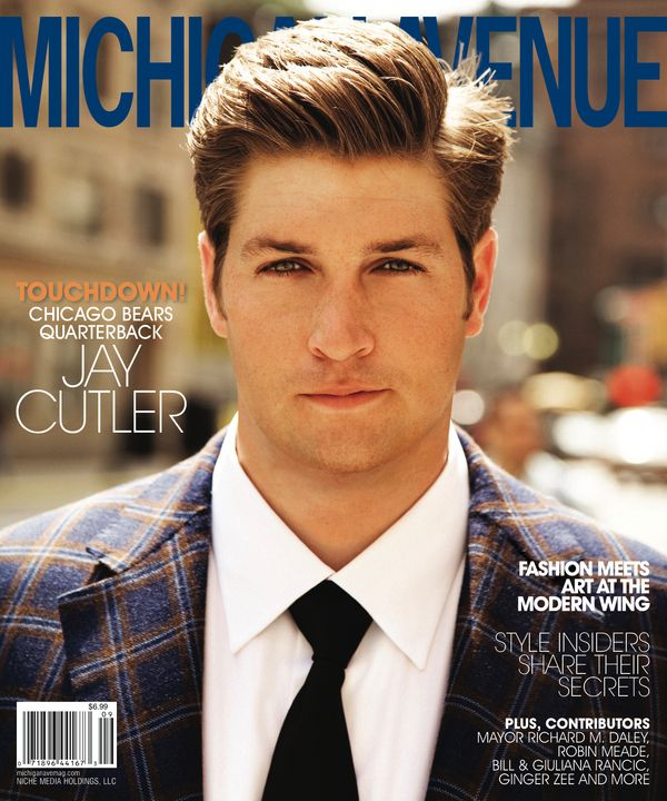 Jay Cutler of the Chicago Bears cleans up well! #jaycutler #chicagobears #whatagentleman #hottie www.SwimSpot.com