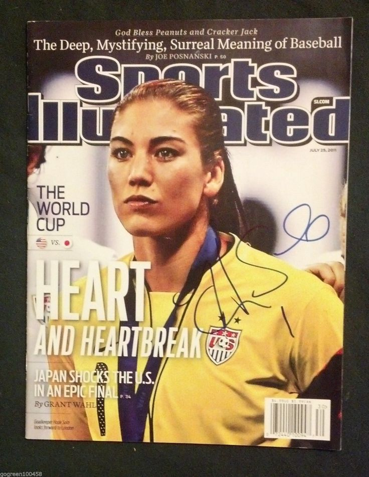 Hope Solo Signed Sports Illustrated Magazine Si Rio Olympics Gold Photo Proof