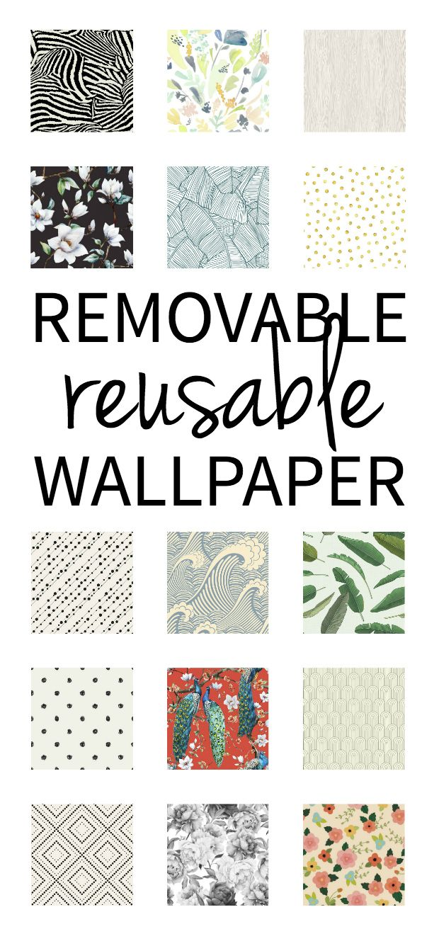 There are a lot of removable wallpapers out there now (ones that come off without the jaws of life, like old school wallpapers), but have you ever seen a wallpaper before that is reusable?? Because I have not, until now.