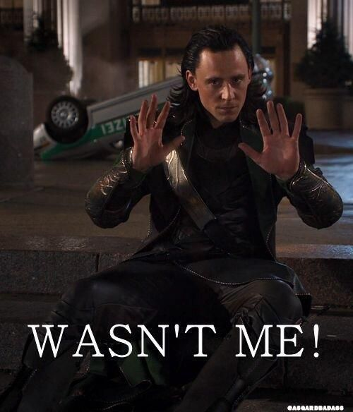 Not me...<---oh like the flipped over car in the background doesn't have you're name all over it Loki<---- Eheheheh