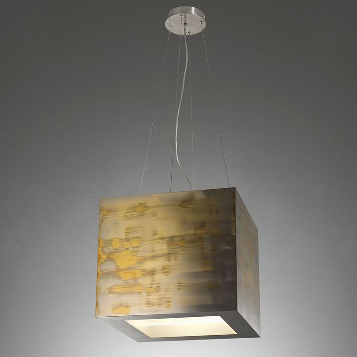 Tom Box MA 15. Hanging lamp in oxydated and nickeled brass. By Mark Anderson   Laurameroni