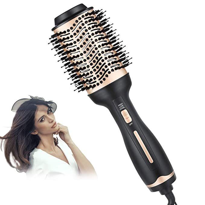 Amazon Com Beautiken Hair Dryer Brush One Step Hair Dryer Volumizer Hot Air Styler Brush 5 In 1 Multifun Anti Frizz Hair Blow Dry Brush Hair Dryer Styler