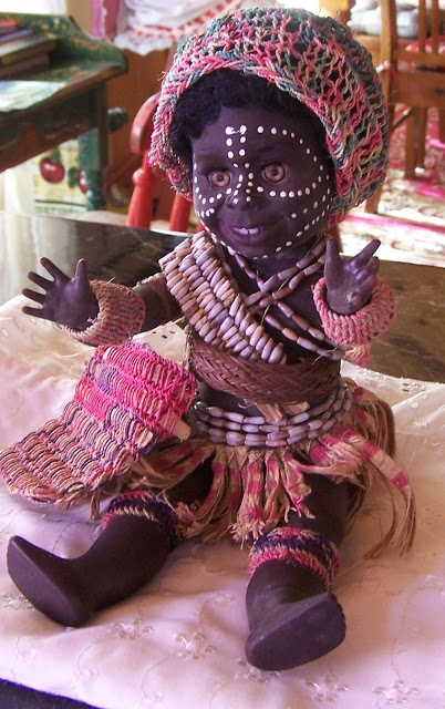 Papua New Guinea Metti doll.    NEWEST ADDITION - UPDATED 4 /5/12  Metti doll, PNG dressed doll.