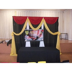 Draping Stand  Valences - 100cm wide for R40.00