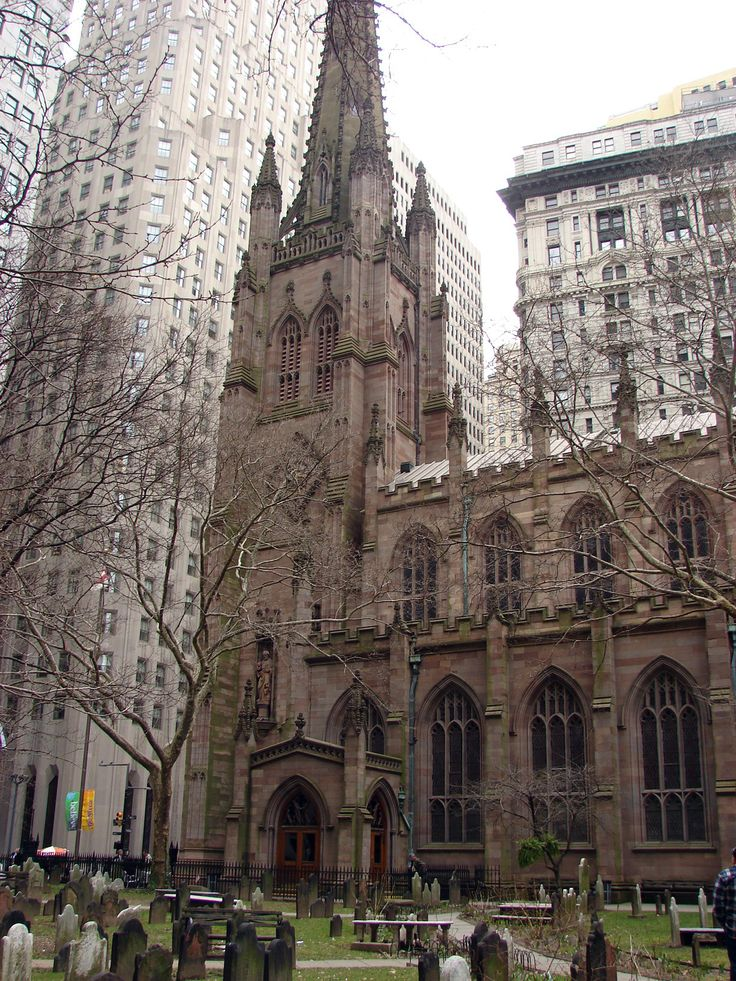 St. Paul's Chapel, Trinity Church, NYC. The church that survived 9/11/01 - and also on the walking maps.