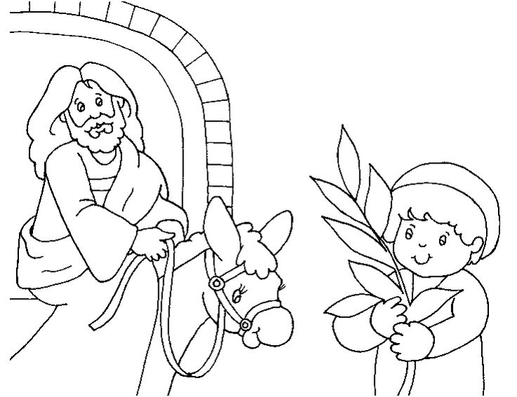 palm branches coloring pages | 43 best images about Palm Sunday on Pinterest