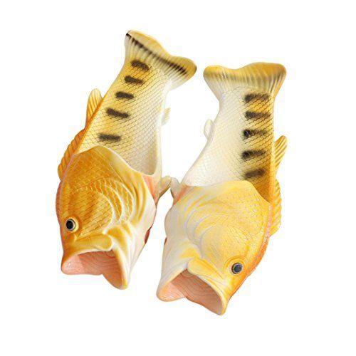 Sunfei Creative Unisex Fish Shower Slippers Funny Beach S...