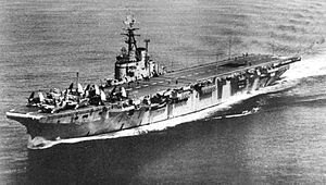 HMCS Magnificent (CVL 21) underway c1950