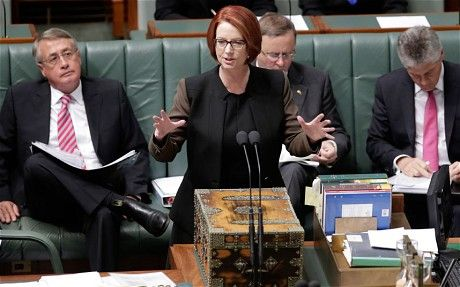 """An article written by Van Badham about the sexist and misogenyst treatment that Julia Gillard had faced in her time as a prime minister of Australia. Despite the fact that she was highly capable and presented outstanding leadership results for the betterment of the country, the fact that she was a woman in politics was constantly emphasized as being """"abnormal, out of place and weird."""" Her policies were successful in creating 14% growth in the economy, but sexist hate speech remained present."""