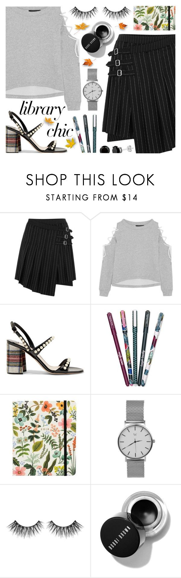 """Library Chic"" by ana3blue on Polyvore featuring McQ by Alexander McQueen, W118 by Walter Baker, Miu Miu, Vera Bradley and Berylune"