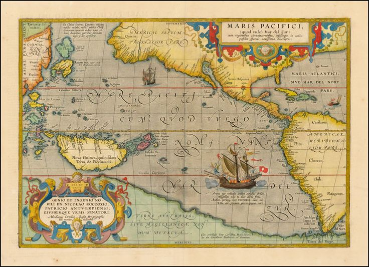110 best vintage maps images on pinterest family tree chart maris pacifici quod vulgo mar del zud the first printed map of the pacific ocean gumiabroncs Images
