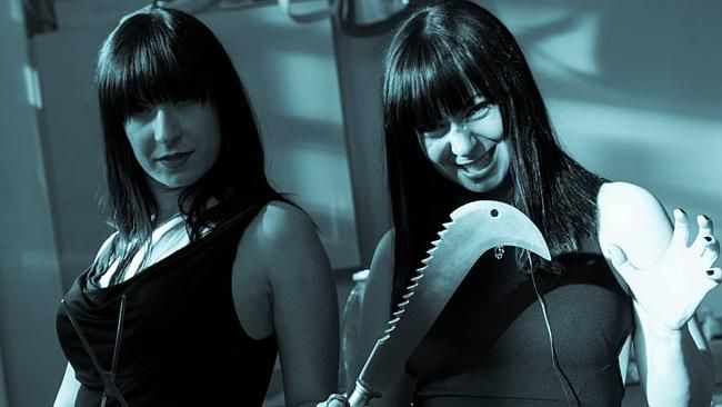 Canada's Twisted Twins, the Soska sisters.