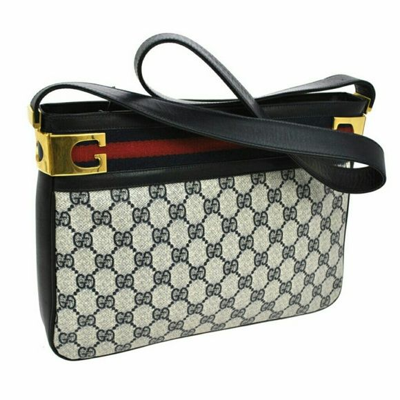 Gucci messenger bag Authentic Gucci messenger bag my mom has it for many years but its still like new conditions  only some scratches on the gold G's have a strap and it can be use as a crossbody too Gucci Bags Crossbody Bags