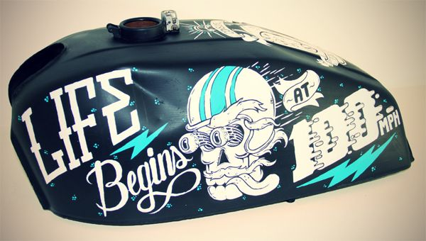 Custom Painted Motorcycle Tank by Clement de Bruin