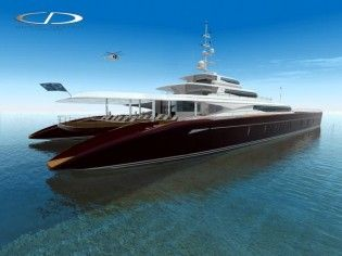View large version of image: Coste Designs luxury 60m power catamaran