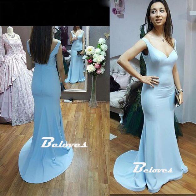 Prom Dress, Blue Dress, Light Blue Dress, Formal Dress, V Neck Dress, Blue Prom Dress, Low Back Dress, Fitted Dress, Dress Prom, Light Blue Prom Dress, Dress Blue, Dress Formal, Gown Dress, Low V Neck Dress, Fitted Prom Dress, Blue Formal Dress