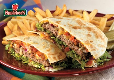 Copycat Recipe for Applebee's Burger Quesadilla