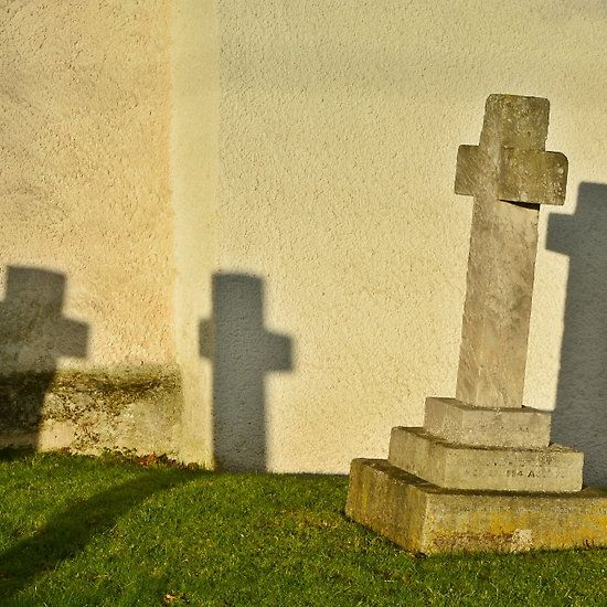 Crosses In The Evening Sun