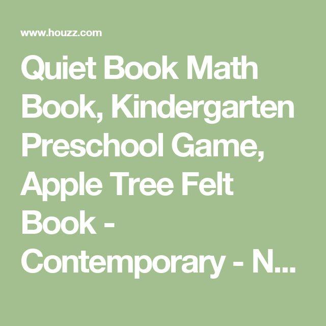 Quiet Book Math Book, Kindergarten Preschool Game, Apple Tree Felt Book - Contemporary - Nursery Decor - by Luulla