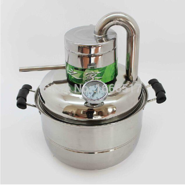 Free ship new 10L Water Alcohol Distiller Home Brew Kit Still Wine Making Essential Oil Boiler