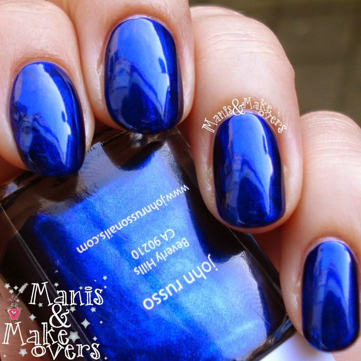 Love this color.  John Russo Nail Lacquer  Deep Blue Sea
