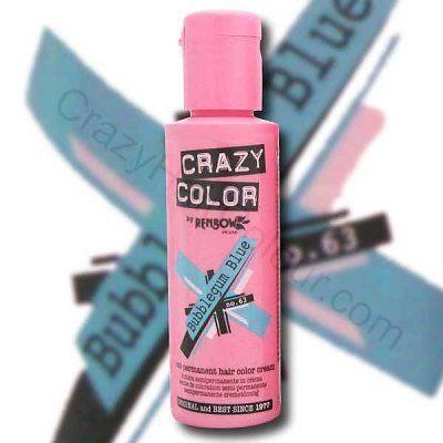 Ben heel benieuwd hoe ik eruit zou zien met blauw haar ;-) lekker om eens gek te doen. Voor de prijs hoef ik het niet te laten.. alleen even blond verven van te voren..hmm dat is misschien wat moeilijker...rose lijkt me ook wel mooi, voel ik me helemaal een prinsesje <3  Crazy Color Bubblegum Blue 100ml  Crazy Color, originele punk haarkleuring. Crazy Color, 25 extreme kleuren, makkelijk in gebruik. Crazy Color, extreme kleur, Crazy kleuren. Crazy Color, wees uniek!