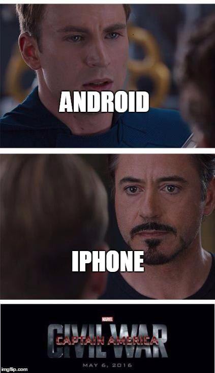 memes iphone vs android
