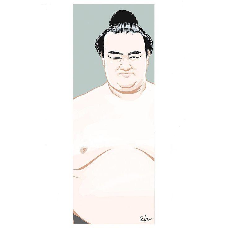 Dec.2017 #kisenosato #sumo #illustlation #artwork #manga  #bandedessinee #comicart