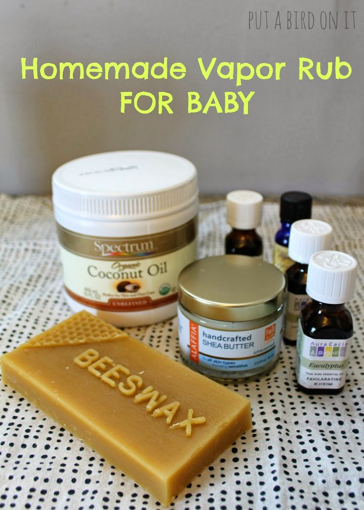 Homemade Baby Vapor Rub for Chest Congestion