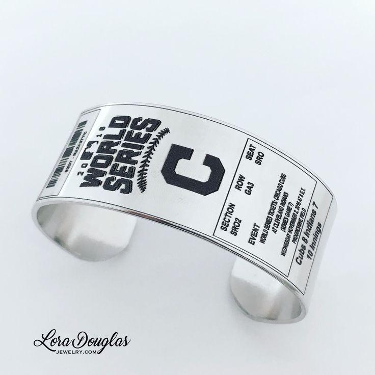 Custom World Series Ticket Cuff  #worldseries #baseball #worldseries2016 #cleveland #silverjewelry #cubs #chicago #indians #clevelandindians #chicagocubs #sports #baseballlife #bracelet #etsy #etsyjewelry #handmade #handmadejewelry #silver #memorabilia