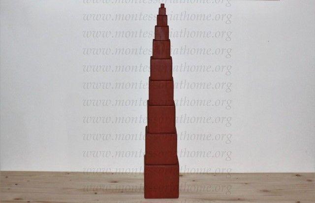 Torre rosa naturale Montessori.