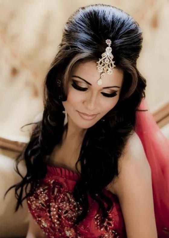 Indian Hairstyles - Half Up Beehive