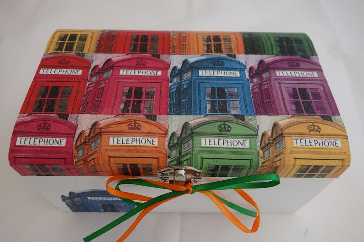 A personal favourite from my Etsy shop https://www.etsy.com/uk/listing/512627092/telephone-box-design-decoupage-wooden