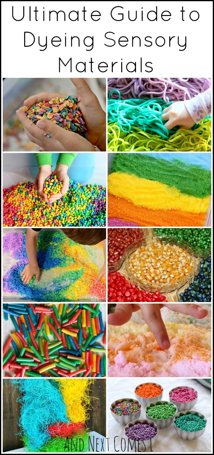 Sensory Play Guide: How to Dye Sensory Bin Materials