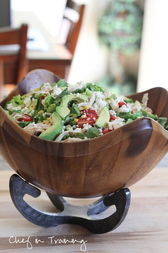 Feta Avocado Chicken Salad!  Perfect for a summer meal!