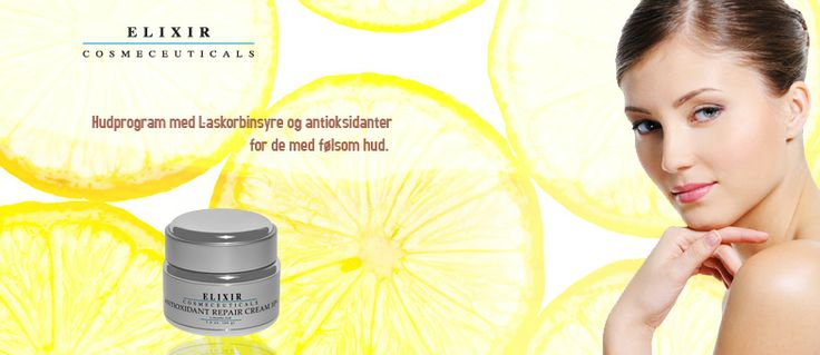 Informasjon om bruk av antioksidanter i hudpleie produkter og Behandling av kviser