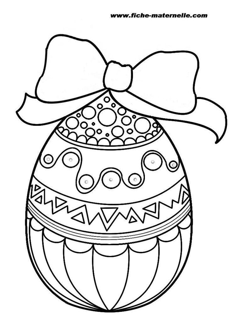 Oeuf de Pâques : un joli coloriage