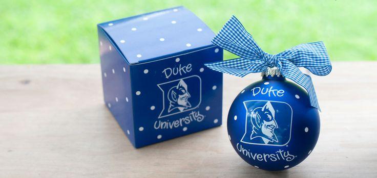 Duke Logo Ornament - Blue w/ white dots   College Duke Blue Devils University Personalized Holiday Unique Christmas tree ornaments