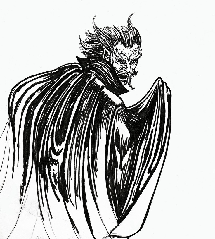 Now, this is a bit much... but the motion of the cape is good, and the idea of the horns being the hair...