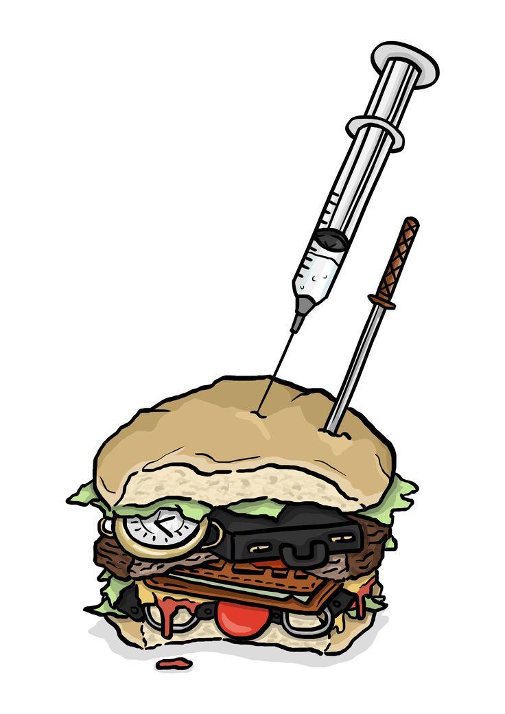 Pulp Fiction burger illustration  #daleillustration
